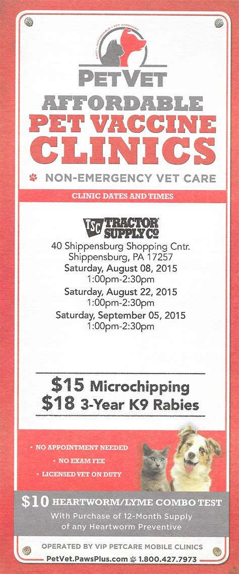 tractor supply puppy vaccines tractor supply affordable pet vaccine clinics ship saves