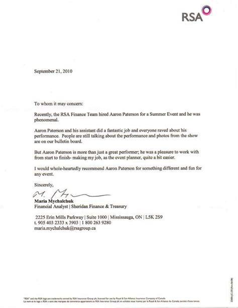 Recommendation Letter Of Toronto Reference Letter Sle Uk