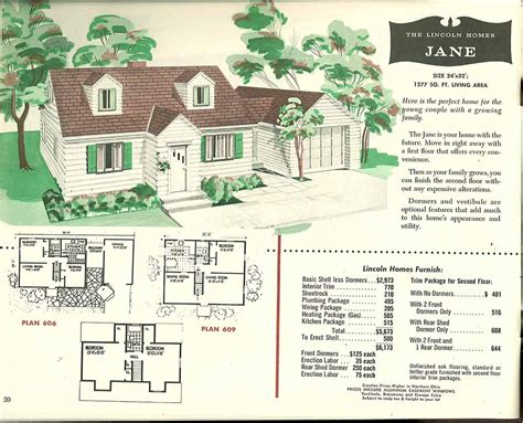 1950s house plans lincoln homes the jane 1955 vintage house plans 1950s