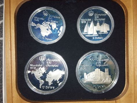 10 Dollar Silver Coin 1976 - canada 5 and 10 dollar coin set quot montreal olympic