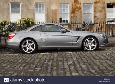 mercedes sl grand tourer 2 door sports car parked in royal