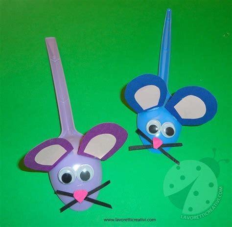 lavori con bicchieri di plastica topolini con cucchiai di plastica lavoretti creativi
