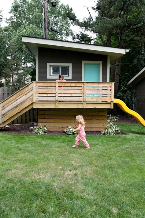 backyard play houses 15 amazing diy backyard playhouses and treehouses