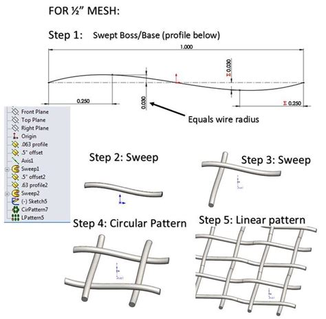 how to make a wire mesh in solidworks wiring diagram schemes