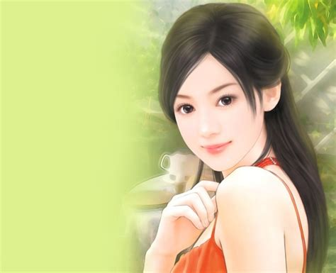 new chinese girls painting chinese girl paintings 03 imagez only