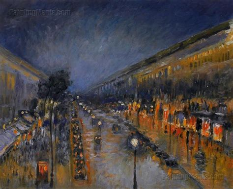 5 Boulevard Montmartre by Boulevard Montmartre Effect By Camille Pissarro
