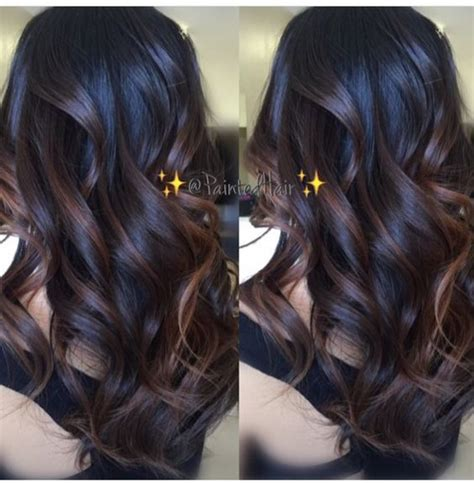 balayage highlights on dark brown hair balayage dark brown
