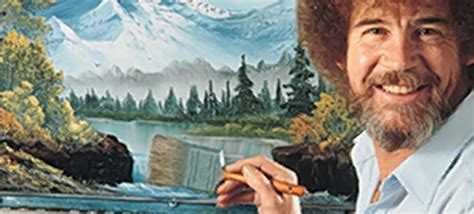 bob ross painting asmr pop an ambien and happy bob ross happily washing his