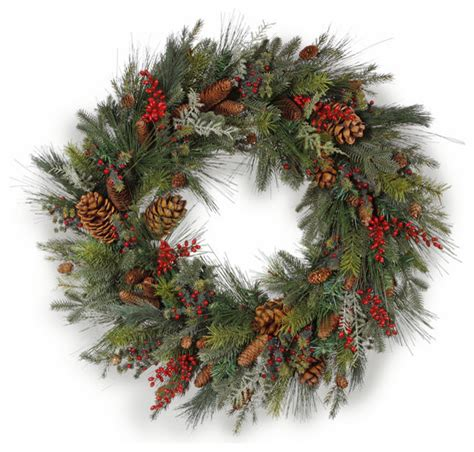 piney woods wreath 36 inch traditional wreaths and