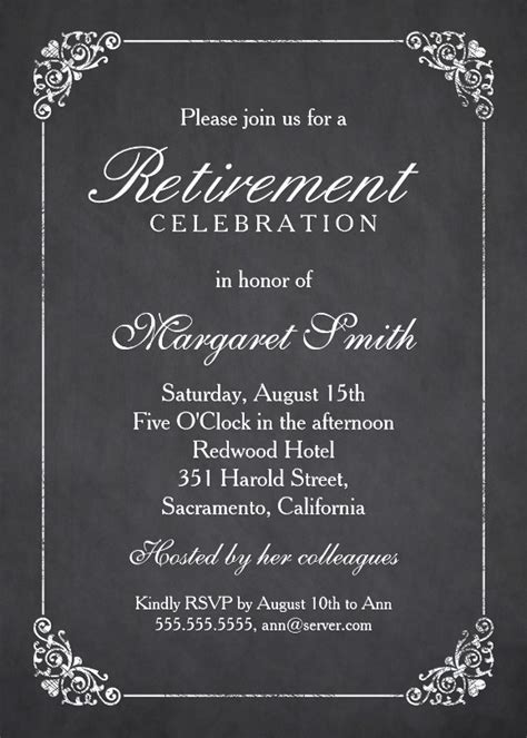 retirement party invitation style rpi 09