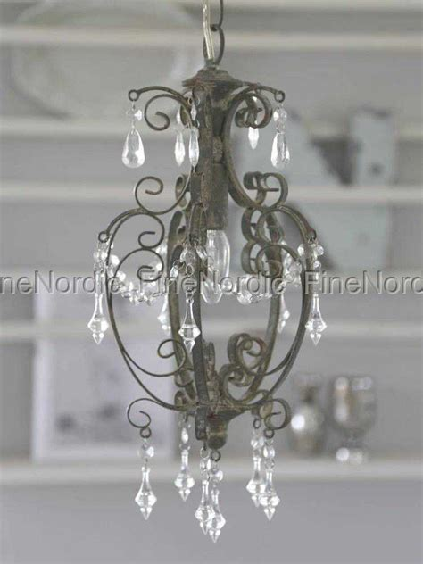 kronleuchter shabby chic chic antique chandelier with prisms antique grey small