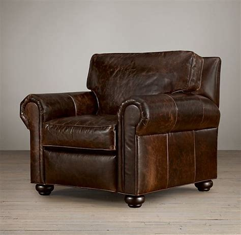 distressed leather melbourne lancaster leather recliner and leather chairs on