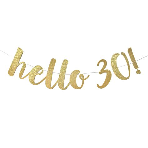 hello 30 birthday banner 30th birthday decorations