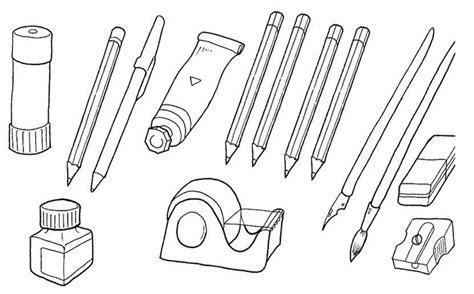 imagenes de utiles escolares en caricatura para colorear dibujos de utiles escolares en ingles imagui