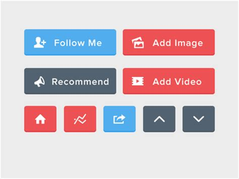 Button Flat flat ui buttons psd included by alex vanderzon dribbble
