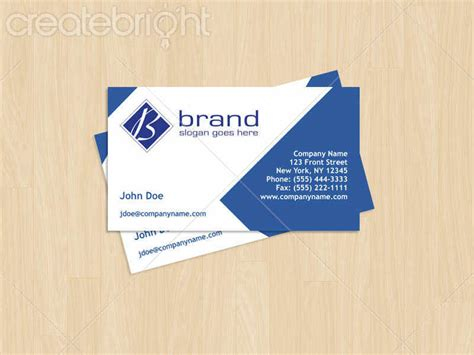 Business Card Template With And Logo by Business Card Template With Logo By Polk In