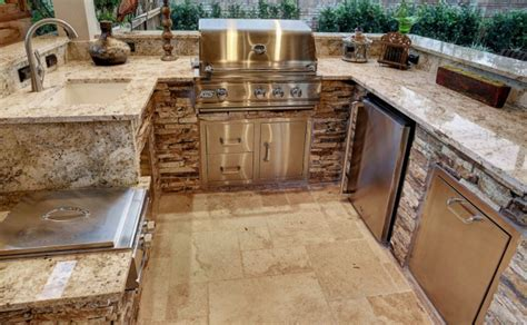 outdoor kitchen countertops ideas best outdoor kitchen countertops compared countertop
