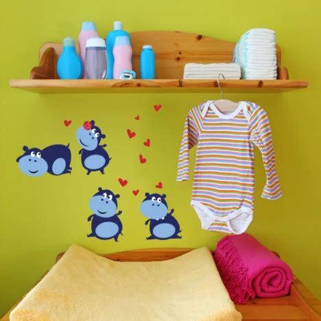 Wandtattoo Kinderzimmer Nilpferd by Wandsticker Set A4 Lustige Nilpferde
