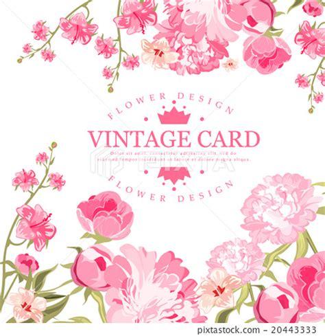 vintage flower card. vector illustration stock