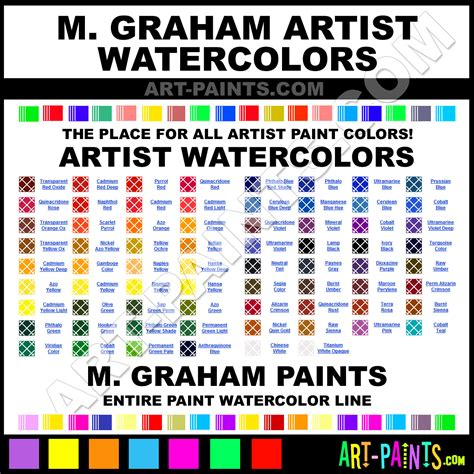 m graham artists watercolor paint colors m graham artists paint colors artists color artists