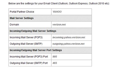 email yahoo verizon solved why won t outlook 2013 allow me to set up a