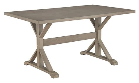 beginnings trestle table with benches sauder beginnings trestle dining table with benches