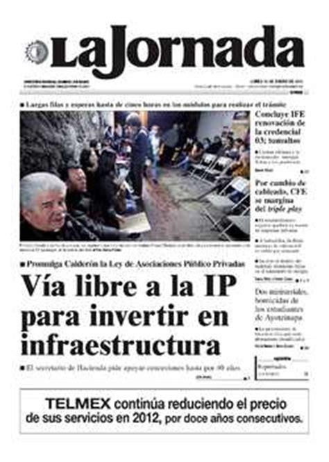 lunes 16 de enero de 2012 la jornada en internet lunes 16 de enero de 2012