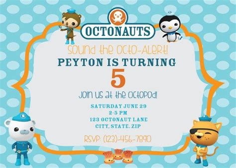 octonauts templates octonauts birthday invitations cimvitation