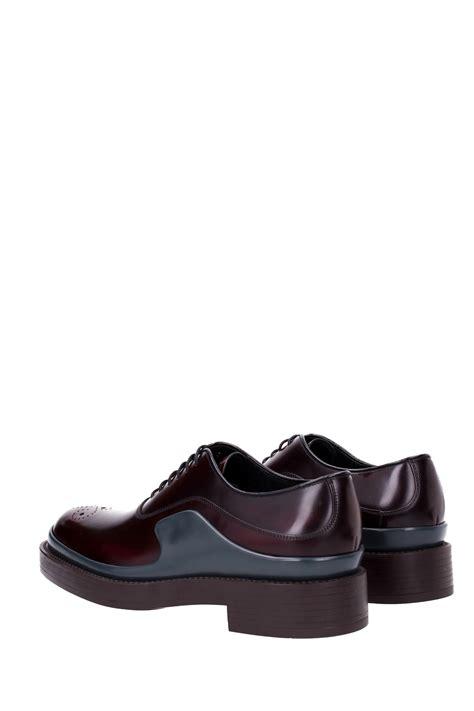lace up shoes prada leather 2eg127cordovan ebay