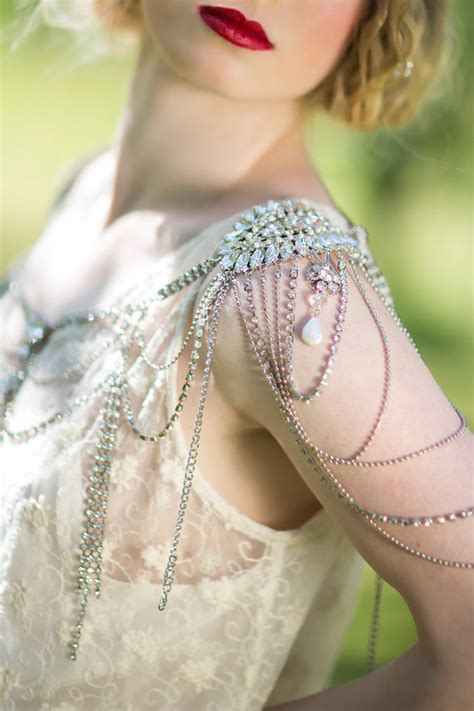 bridal rhinestone shoulder jewelry epaulettes