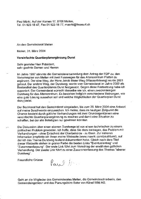 Antrag Gemeinderat Vorlage Ebener Durstweg F 252 R Das Alterszentrum Platten