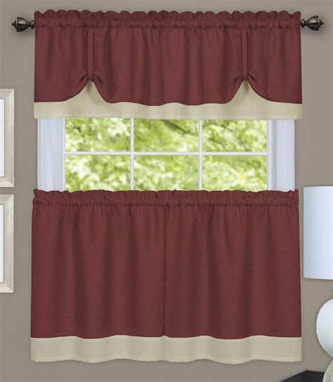 white and tan curtains darcy curtain tier set tan white achim tiers swags