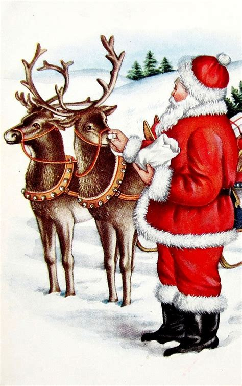 best art of santa and eight teindeer 106 best decor ideas i images on merry