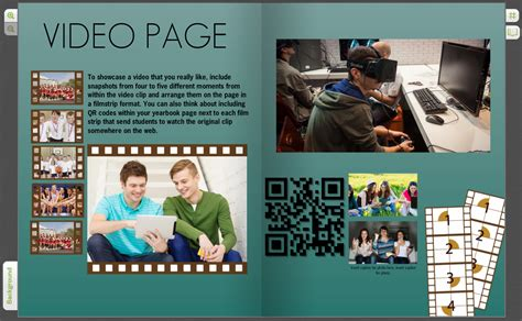 interactive yearbook page ideas with qr code