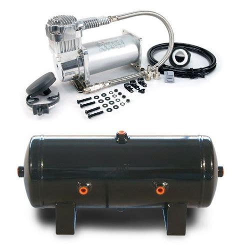 viair 400c 150 psi max compressor w 2 g 6 port tank air ride horns tires ebay