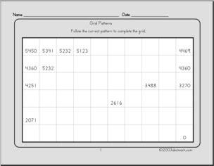 grid pattern worksheets grid patterns 3 worksheet abcteach