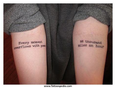 couple quote tattoos tattoos quotes quotesgram