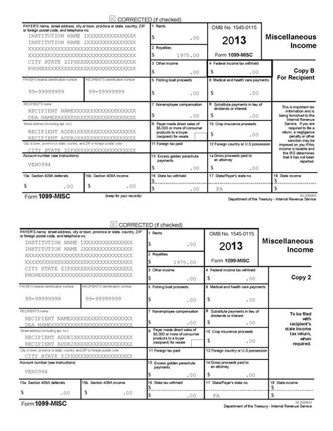 1099 misc form template blank 1099 form 2015 printable newhairstylesformen2014