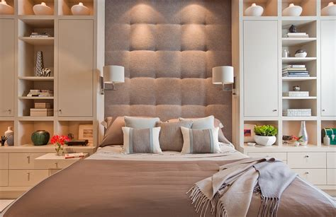 built in bedroom storage cushion headboard bedroom contemporary with bed pillows bedside table below cabinet