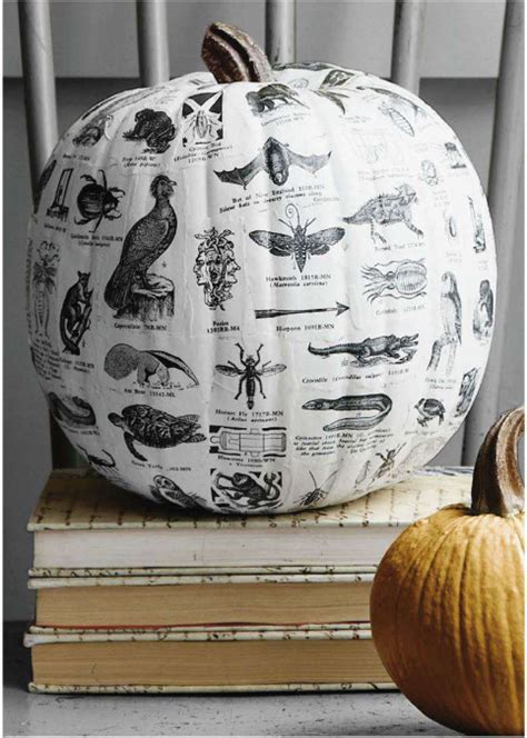 Decoupage Pumpkins - picks no carve pumpkin ideas