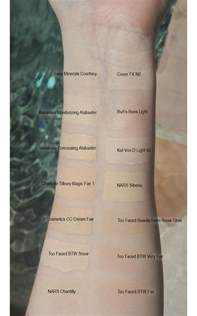 Tarte Light Sand Cruelty Free Pale Foundation Swatches