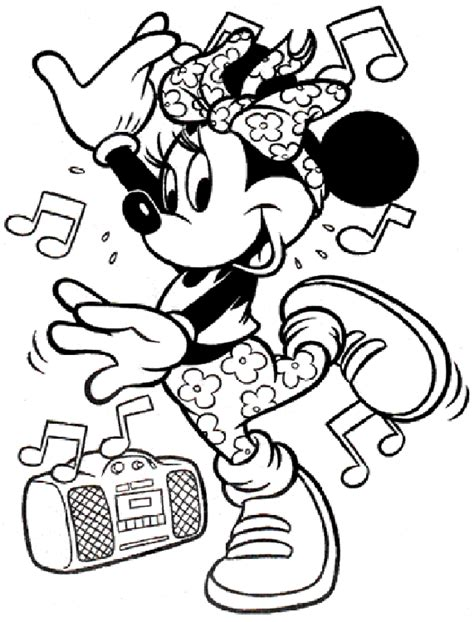 Minnie Mouse Coloring Pages Coloringpagesabc Com Free Coloring Pages Of Disney Characters
