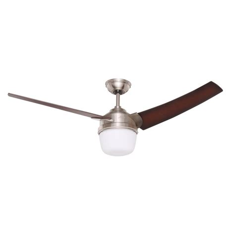 hunter discovery ceiling fan hunter discovery 48 in indoor brushed nickel ceiling fan