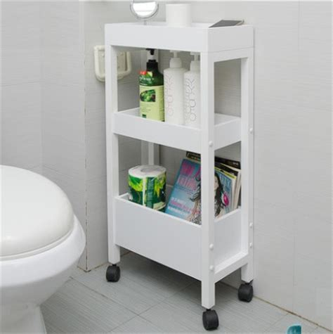 br031 movable bathroom storage rack