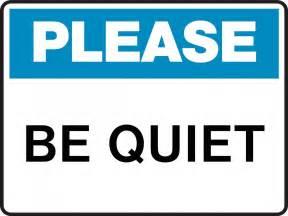 Quiet please sign clipart best