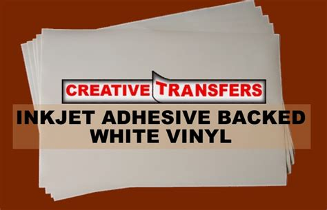 laser printable vinyl roll inkjet adhesive backed white vinyl 11 quot x 17 quot 25 sheets