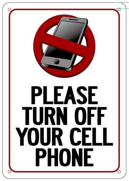 turn off cell phones etsy