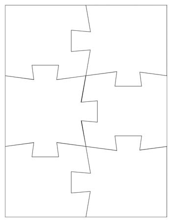 jigsaw puzzle template 6 pieces tim van de vall
