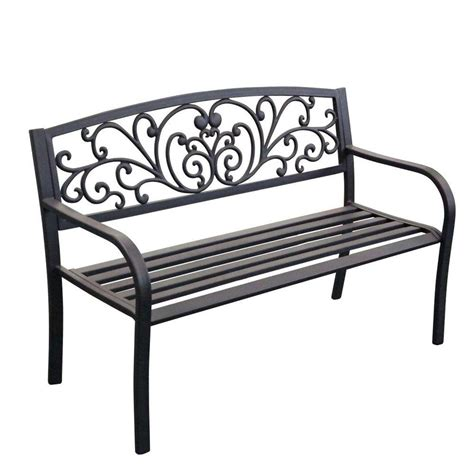 curved park bench jeco 50 in scroll curved back steel park bench pb003