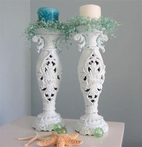 shabby chic candle sticks cottage shabby chic decor candlesticks